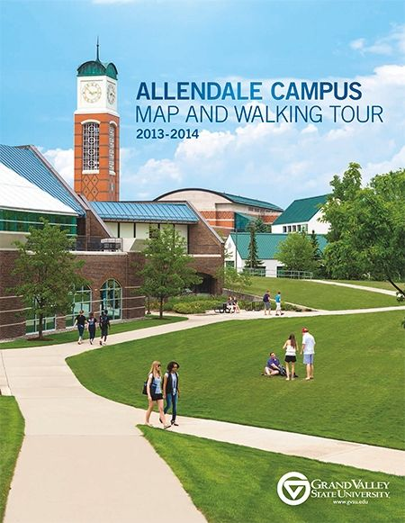 Example of a brochure cover using GVSU's logo